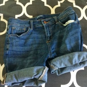 Medium dark wash old navy Jean shorts